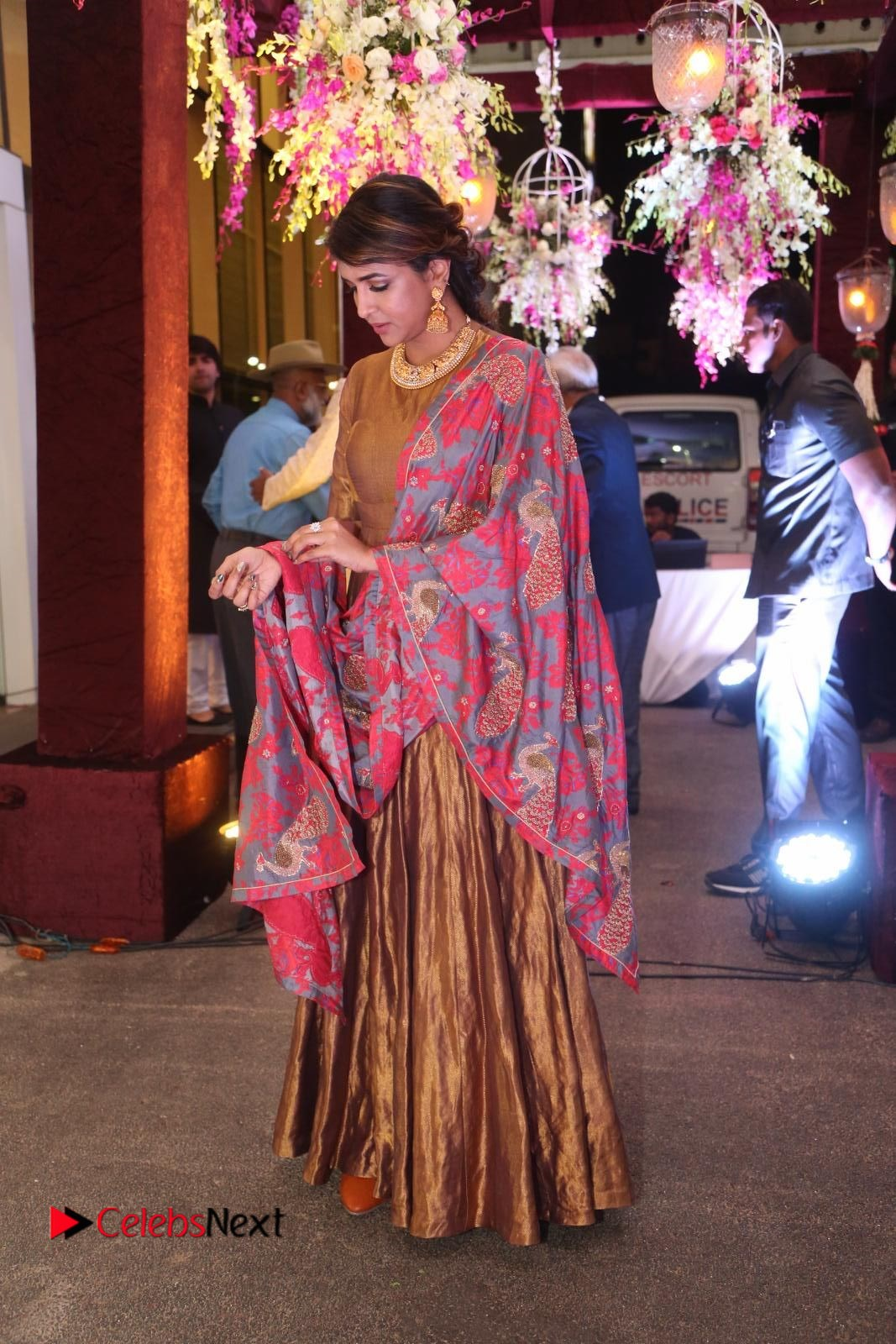 Lakshmi Manchu Stills at Sania Mirza Sister Wedding Reception