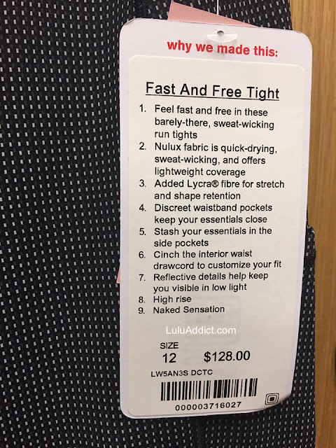 lululemon fast-and-free-tight check