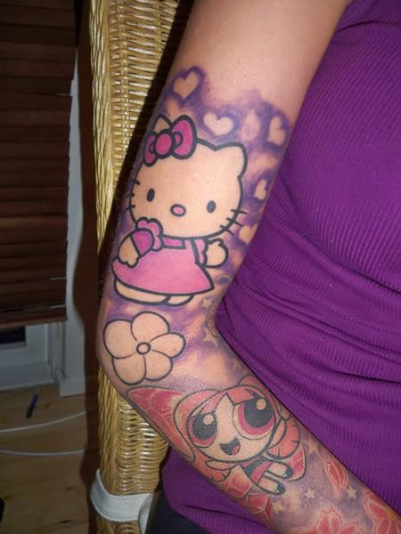 9 Beautifull and Cute Hello Kitty Tattoo Designs