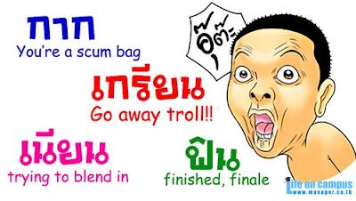 Belajar, Bahasa Thai, Thailand, Slang, Gaul