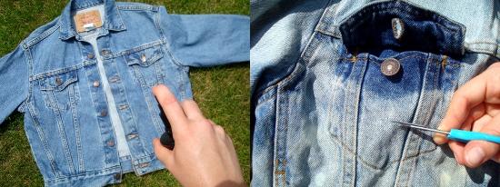 The Slushy Brain Diy Acid Wash Denim Jacket