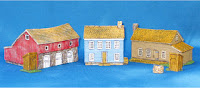 ACWBL-002: 10mm Farm Set Contains Contains 3 model buildings plus well and 2 different Out-Houses