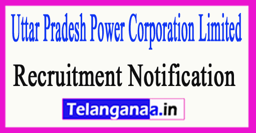 Uttar Pradesh Power Corporation Limited UPPCL Recruitment Notification 2017