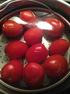 Tomates confitados, preparación 2