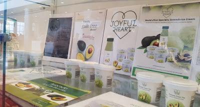 Joyful Heart avocado ice cream from Harvest Prime Corporation.