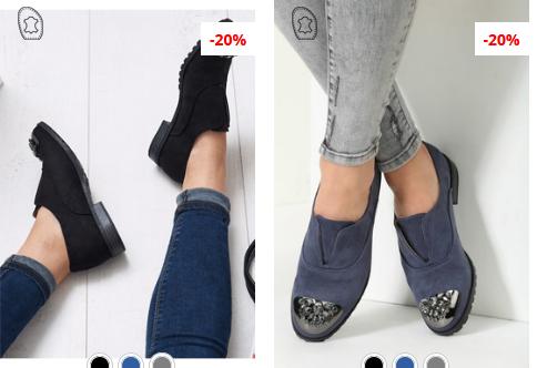 Pantofi casual dama moderni negri, navy moderni din piele intoarsa ieftini