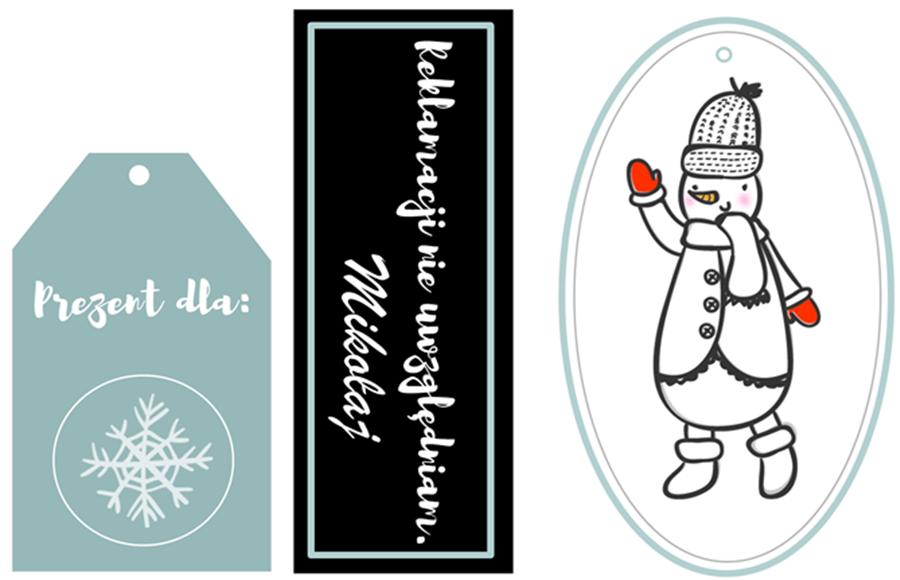 tag, etykietka, naklejka, święta, Boże Narodzenie, prezent, pakowanie prezentów