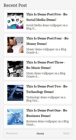 Recent posts widget for blogger with thumbnail