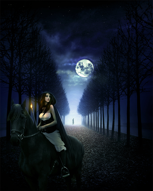 Create a Queen in the Dark Night Photo Manipulation