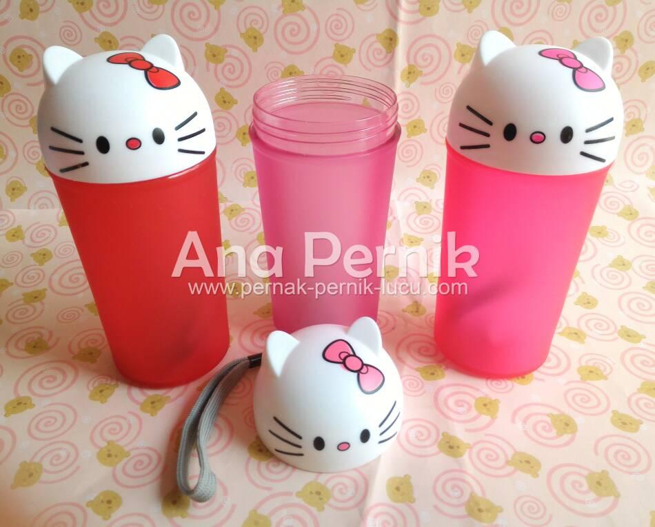 boto minum; perlengkapan bekal; perlengkapan dapur; pernak pernik dapur; pernak pernik hello kitty; botol minumm hello kitty; gelas hello kitty