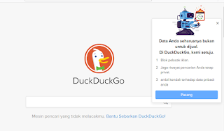 DuckDuckGo search engine.