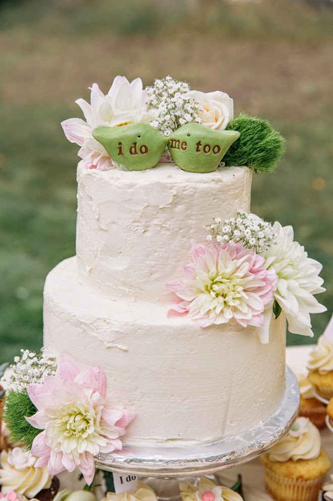 Charming mint beige and blush diy outdoor wedding belle for Garden wedding cake designs