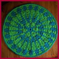 Mandala grande a crochet