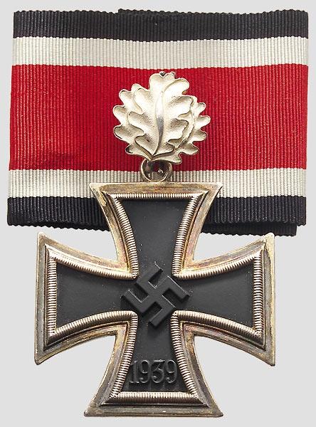 Cruz de Caballero con hojas de roble