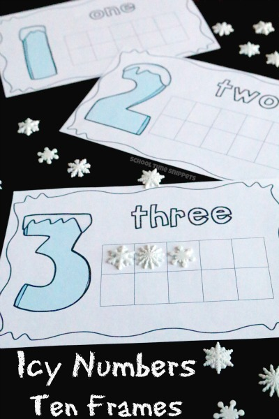 ten frames preschool printable