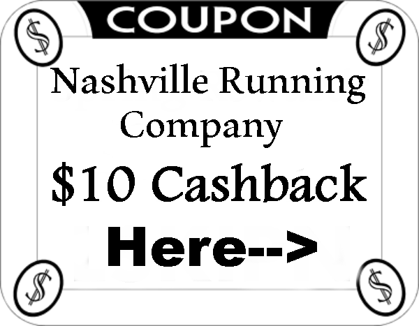 Nashville Running Company Casback Coupons August, September, October