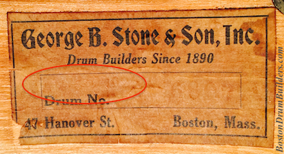 Stone Drum Shell Interior Label