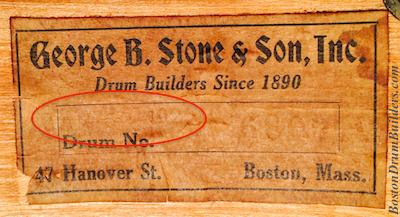 Stone Drum Shell Interior Label