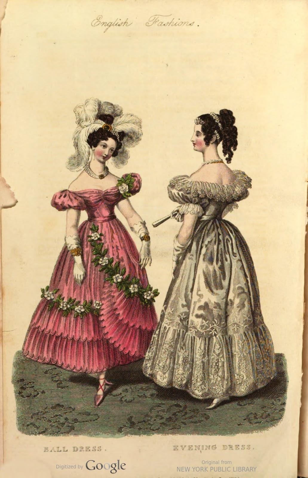 2feaf5041a Báli ruha rózsaszín gros de Naples alsóval és hasonszínű géz felsőruhával,  rövid béret ujjakkal, redőzött derékkal, a szoknyán géz fodrozattal és  fehér ...