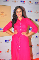 Sree Mukhi in Pink Kurti looks beautiful at Meet and Greet Session at Max Store (67).JPG
