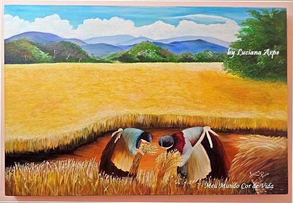 a colheita de trigo
