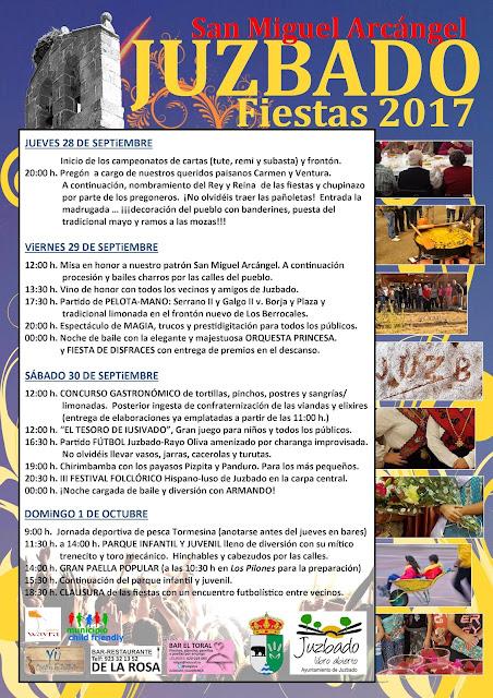 Juzbado, fiestas 2017, San Miguel Arcángel