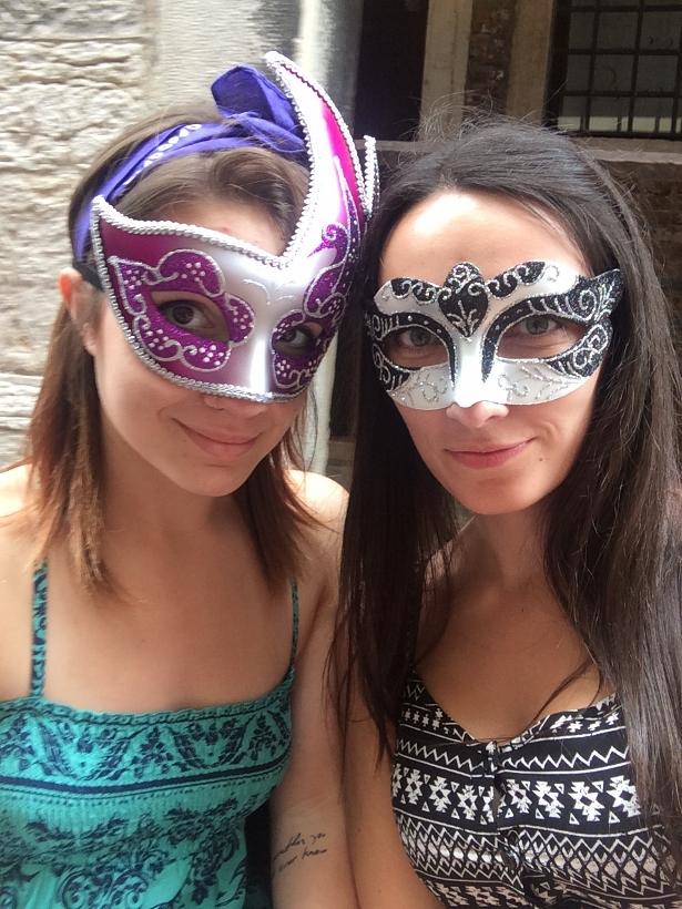 Masks gondola venice