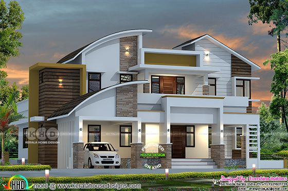 4 bedroom modern contemporary style 2550 sq-ft home plan