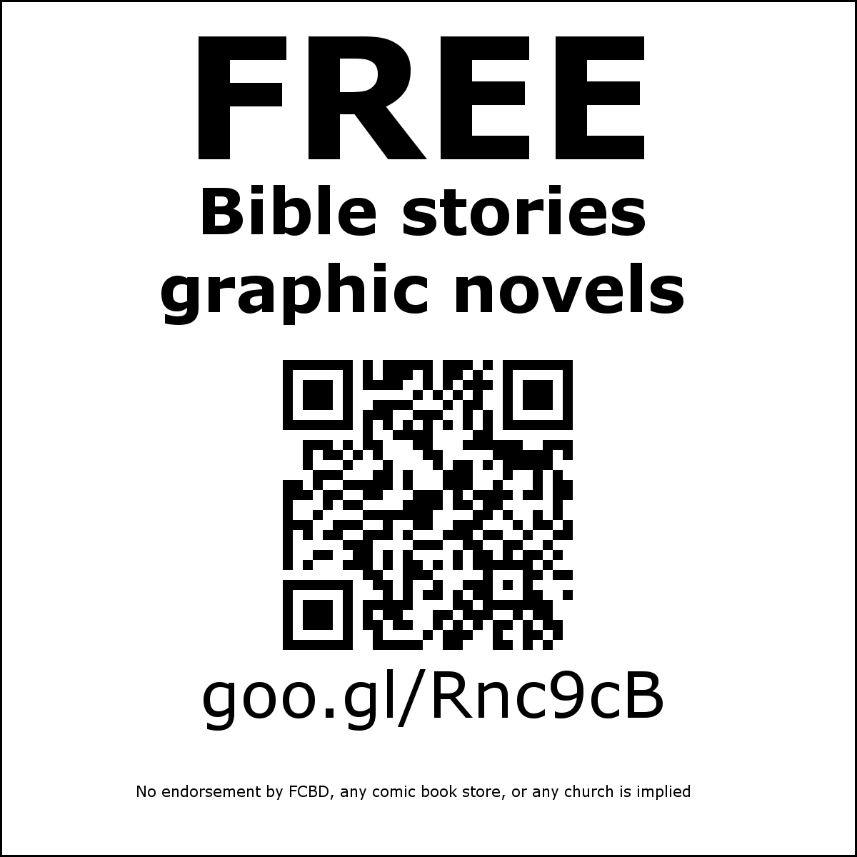 FREE Bible stories graphic novels goo.gl/Rnc9cB No endorsement by FCBD or any comic book store or church implied