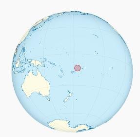 Wallis et Futuna dans l'Océan Pacifique sur le globe