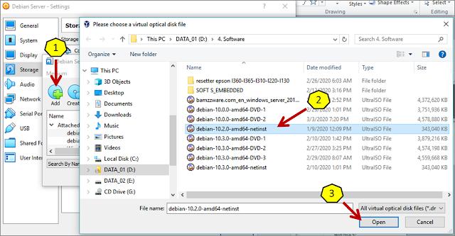 Instalasi Debian - Menambahkan file .iso debian 3