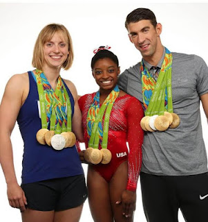 , American Olympics Gold medalists Michael, Katie and Simone Biles cover Sports Illustrated magazine (photos), Latest Nigeria News, Daily Devotionals & Celebrity Gossips - Chidispalace