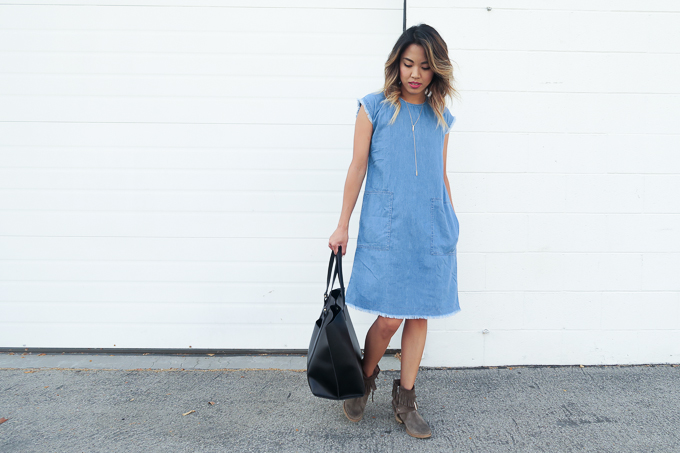 Denim dress style idea