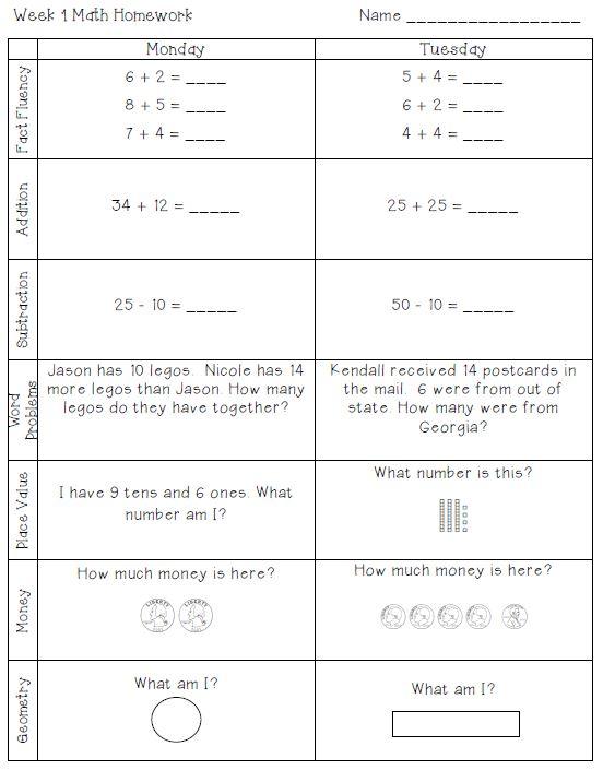 Homework help for 2nd grade math