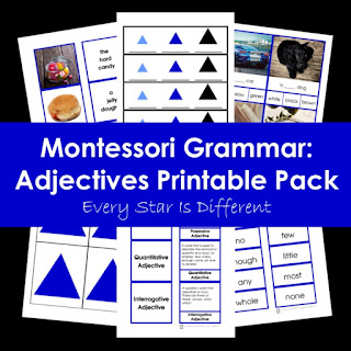 Montessori Grammar: Adjectives Printable Pack