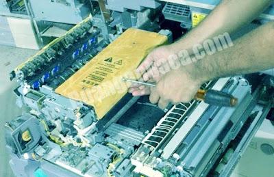 Solusi mengatasi hasil fotocopy canon IR mengkerut dan keriput