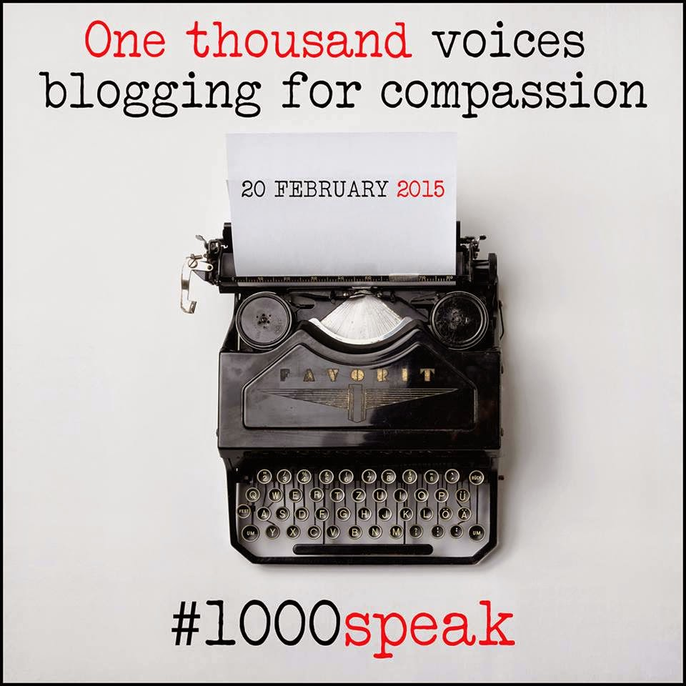 #1000speak, #1000voices, compassion, community,