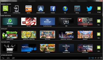 Emulador de Tablet BlueStacks Capa