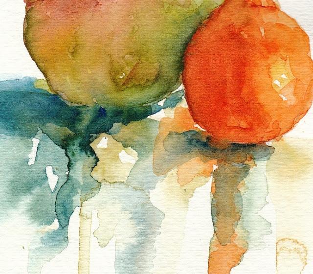 watercolor fruit painting