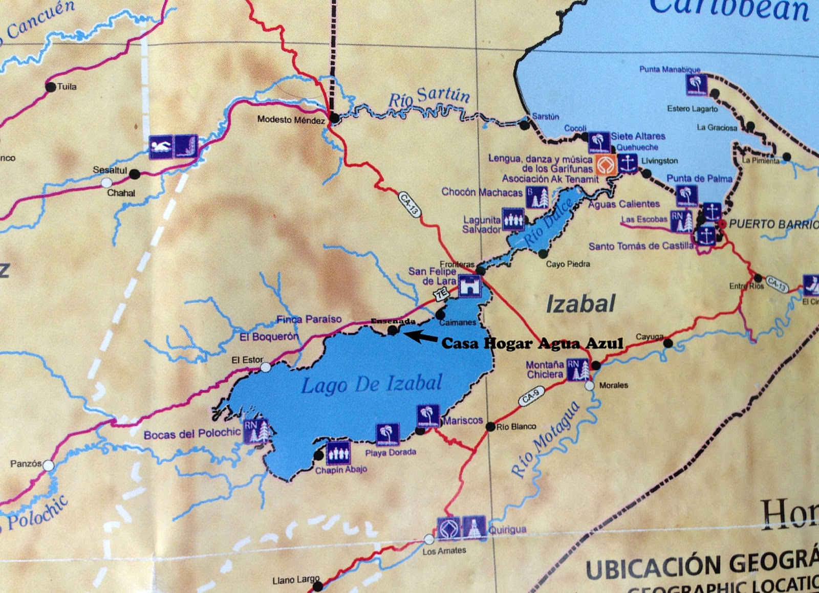 livingston is the entry point to the rio dulce where the rio meets the caribbean on the map rio dulce is written on what is actually el golfete