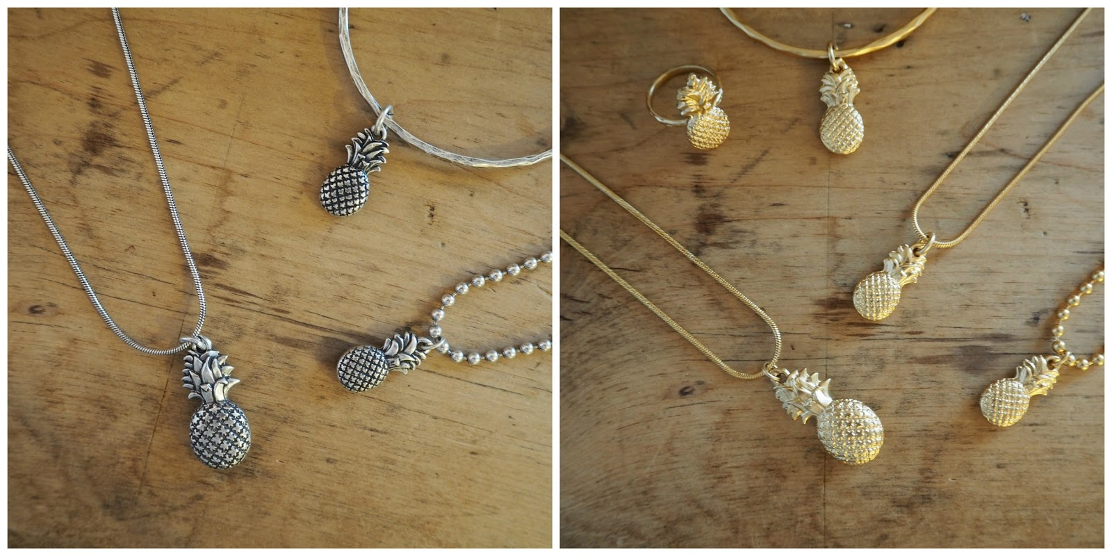 Black Friday discount, danon Jewellery. pineapple necklace, pineapple ring, pineapple bracelet. christmas gift guide