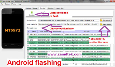 How to flash android with SP Tool