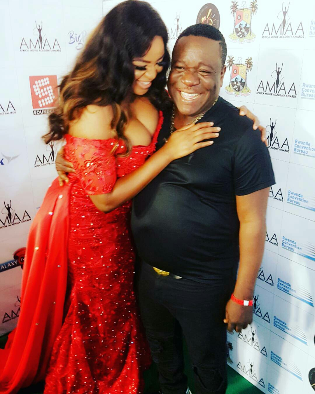 Funke Adesiyan and Mr Ibu