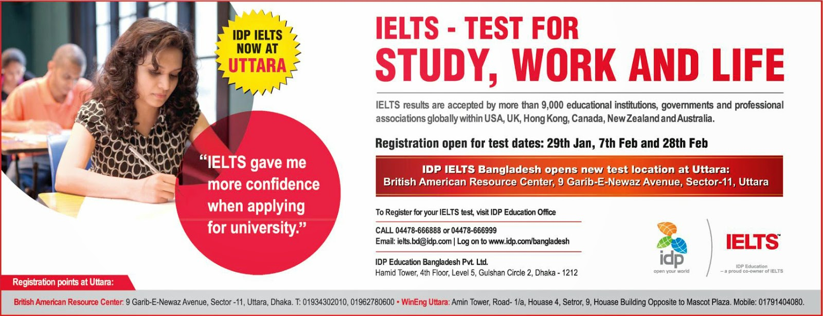 Energian Saasto—These Idp Ielts Exam Schedule Dhaka