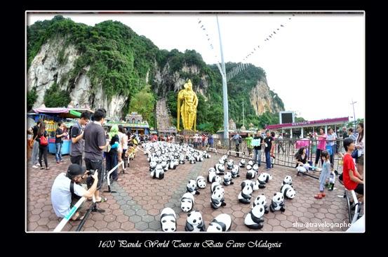 1600 Panda, pandas, malaysia, WWF, Paulo Grangeon, Batu Caves, Publika Shoppng Mall, 1600 Panda World Tours