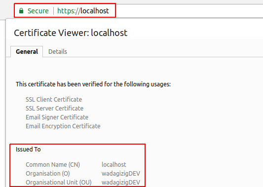 HTTPS Localhost Secure