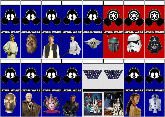 Star Wars: Recuerdos o Souvenirs con Forma de Cajas o Carteritas de Fósforos.