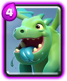 Carta Dragão Bebê (Baby Dragon) de Clash Royale - Wiki da Carta