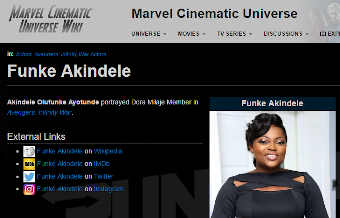"Nigeria actress, Funke Akindele-Bello to feature in upcoming Hollywood superhero film ""Avengers: Infinity War"""