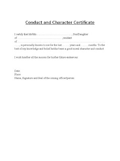 Character certificate format for students choice image character certificate format by gazetted officer pdf download yadclub Gallery